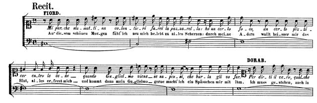 Mozart Cosi acte I scène 2