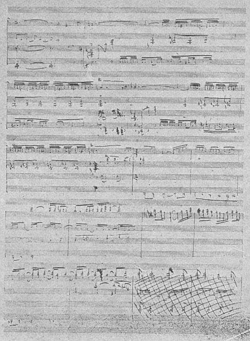 Debussy esquisse Faune